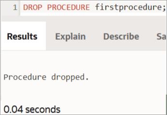 Delete PROCEDURE