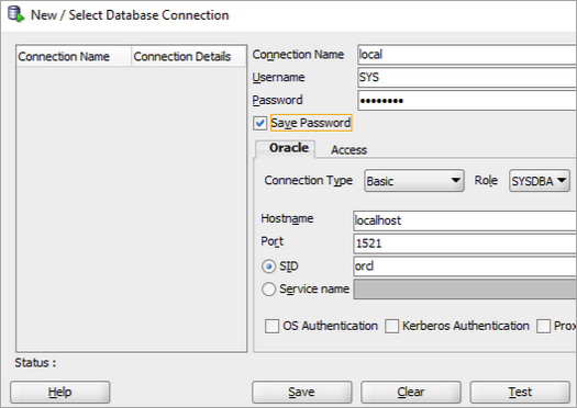 New database connection