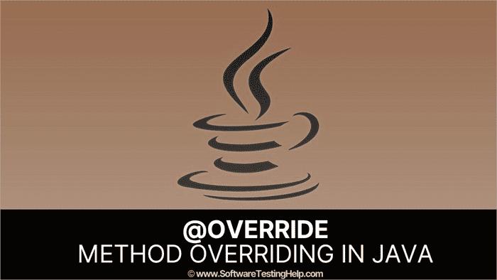 @override_ Method Overriding In Java