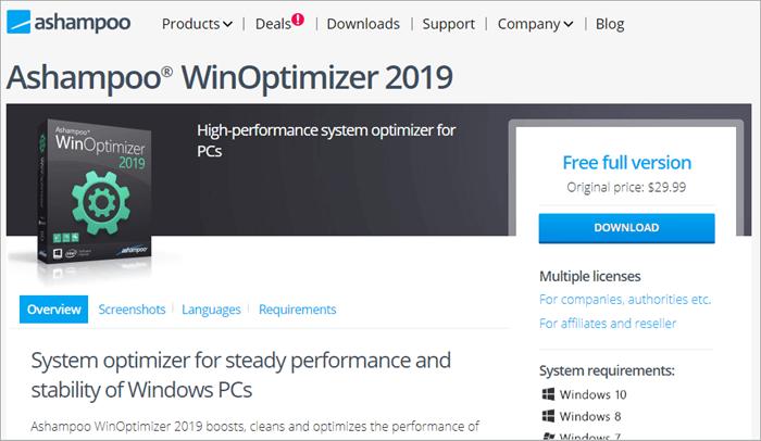 Ashampoo Win Optimizer