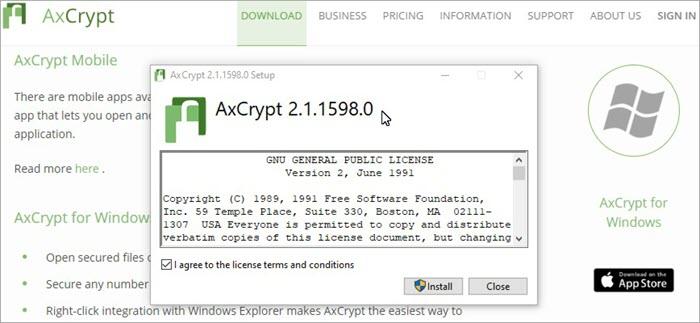 Ax Crypt encryption