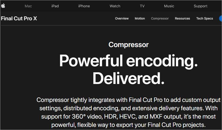 Final Cut Pro X Compressor