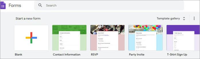 Google Forms Dashboard