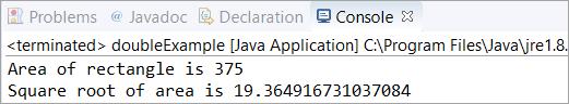 Java double example