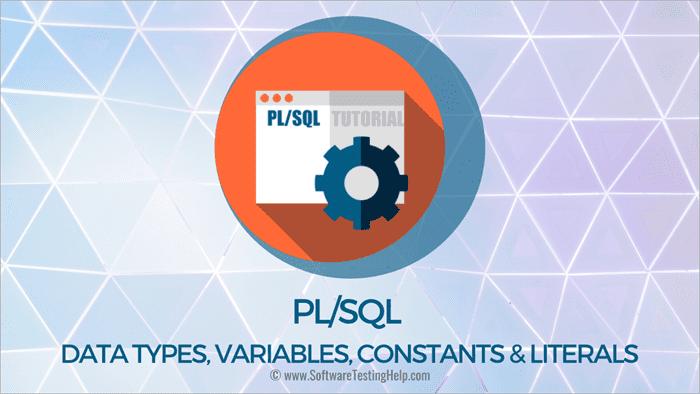 PL SQL Data Types, Variables, Constants & Literals