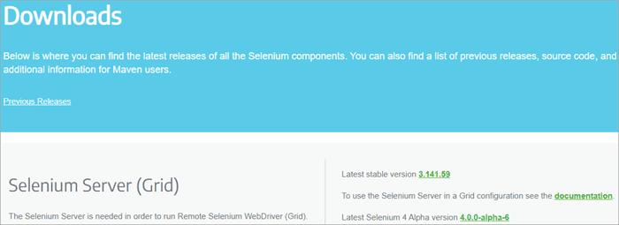 Selenium 4 Alpha version