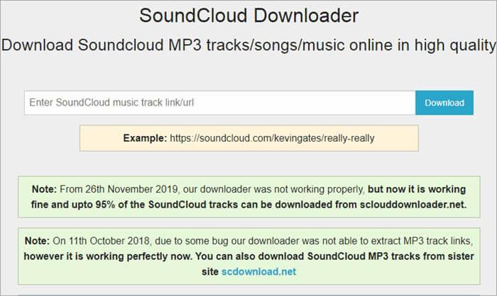 SoundCloudDownloader Dashboard