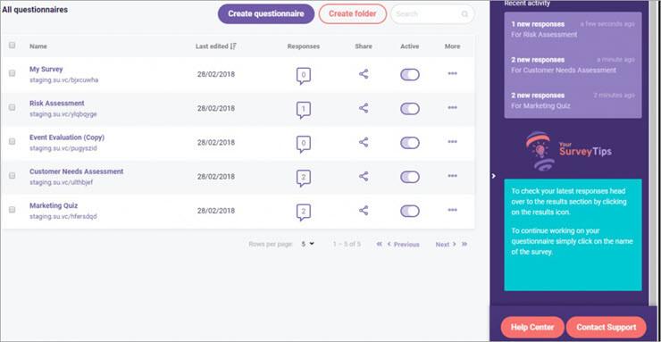 SurveyAnyPlace Dashboard