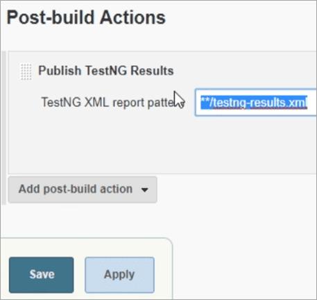 TestNG XML report pattern