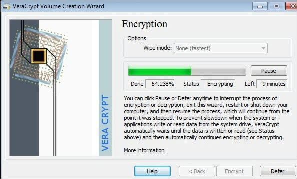 Vera Crypt encryption