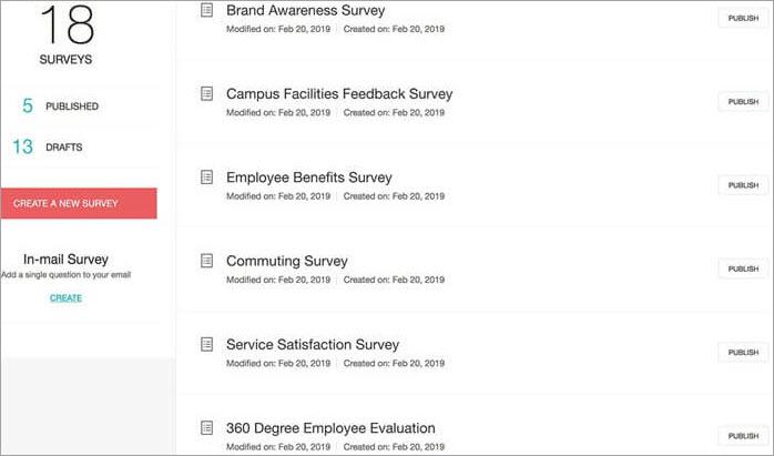 Zoho Survey Dashboard