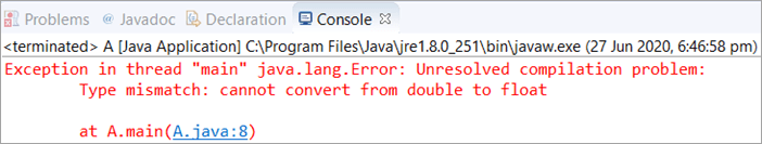 Decimal value in Java float