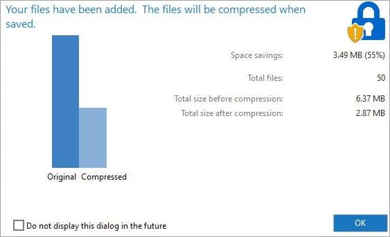 compressed file WINZIP final step