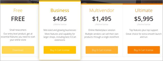 Xcart Pricing