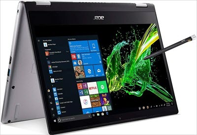 #3) Acer Spin 3 Convertible