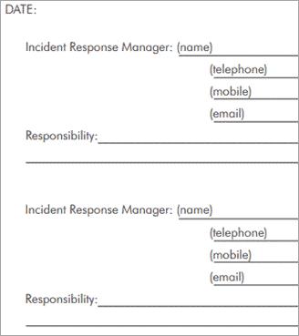 3.1INCIDENT Response contact sheet