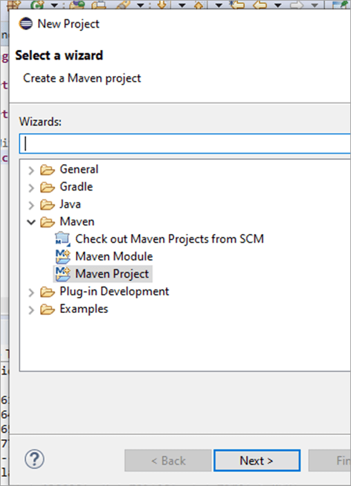 Select Maven Project