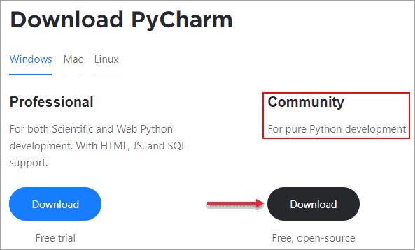 download PyCharm