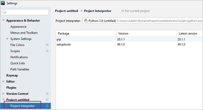 Verify if Selenium libraries are configured