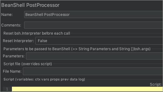 BeanShell Post Processor