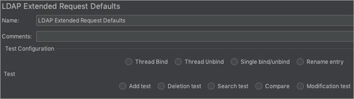 LDAP Extended Request Defaults