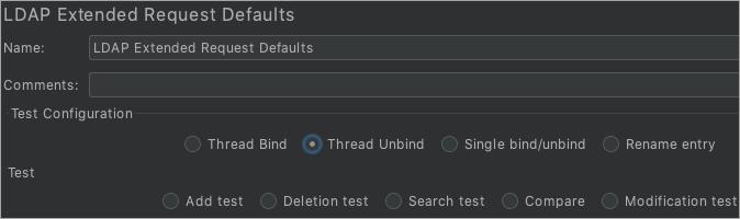 LDAP Extended Request Defaults_Thread Unbind