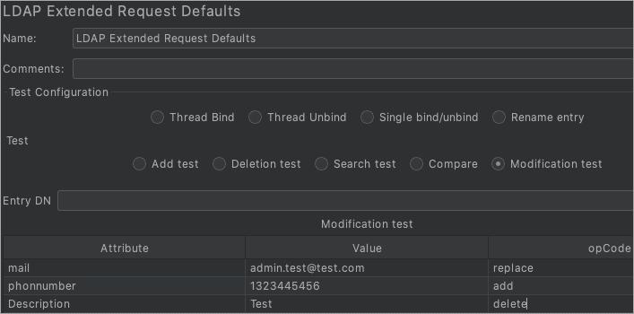 LDAP Extended_Modification test