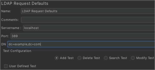 LDAP Request Defaults