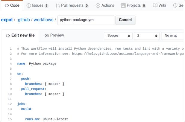 Setup Python package Workflow