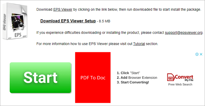 Using EPS Viewer