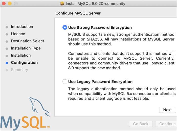 configure mysql server