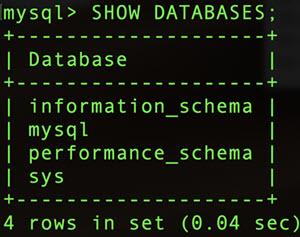 mysql - show_databases