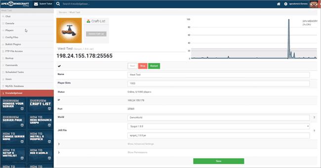 Apex Hosting Features