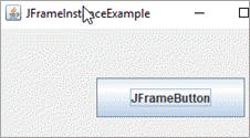 By instantiating JFrame class