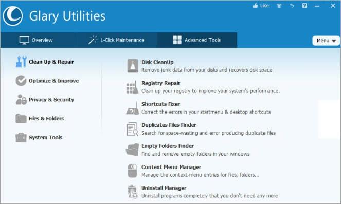 Glary Utilities Dashboard