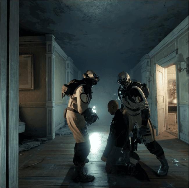Half-Life VR game scenes