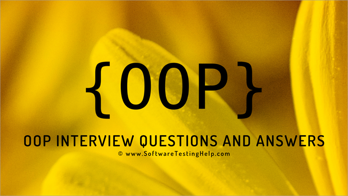 Object Oriented Programming Interview Questions - OOPS