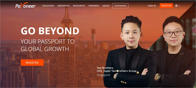 Payoneer - Dashboard