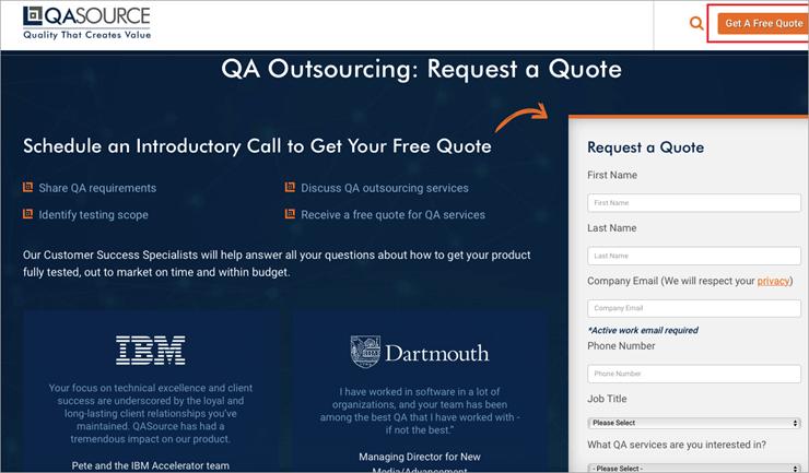 QASource_free quote
