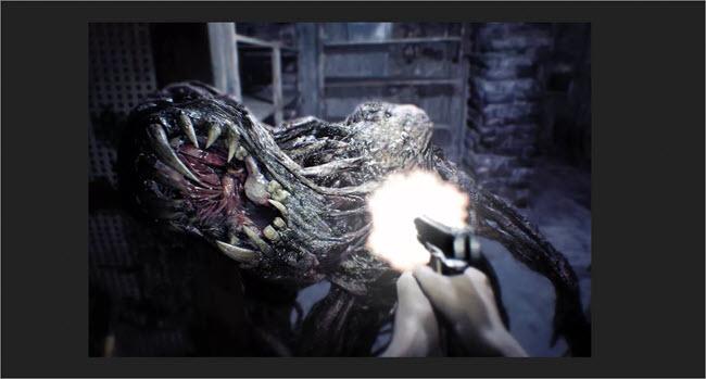 Scenes in the Resident Evil game