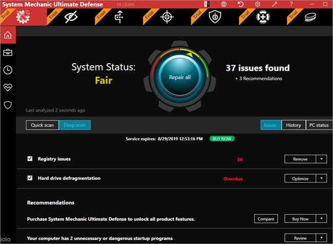 System Mechanic Dashboard