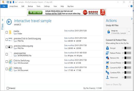 Interactive travel sample