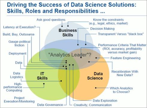 IT skills, business skills, and data science