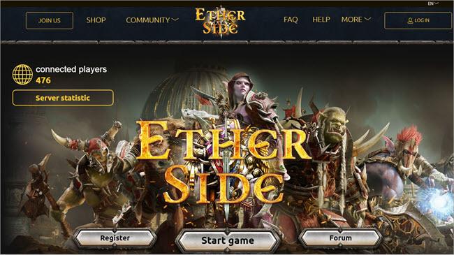 Ether Side Website