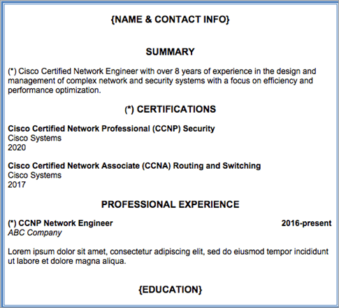 Examples of Certification