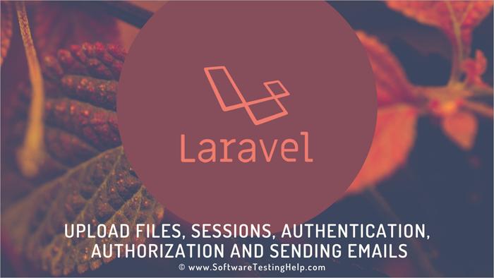 Laravel upload files, sessions