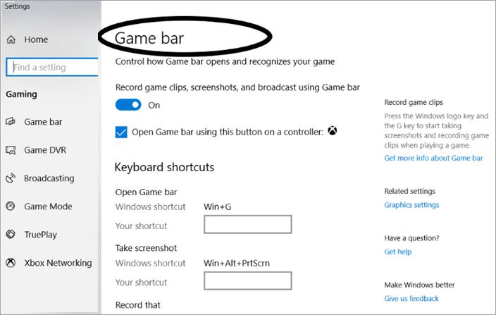 Game Bar