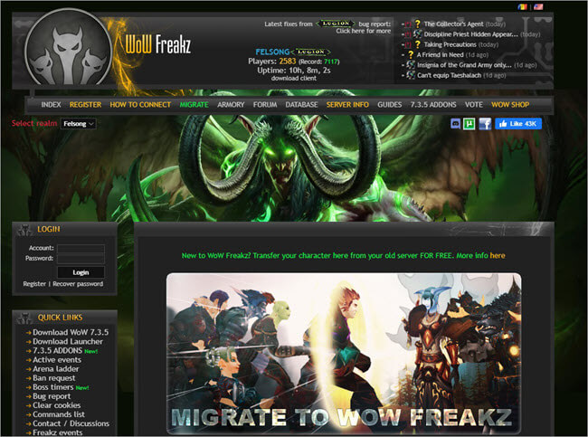 WoW Freakz Website