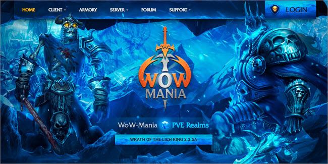 WoW Mania Website