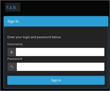 User login form